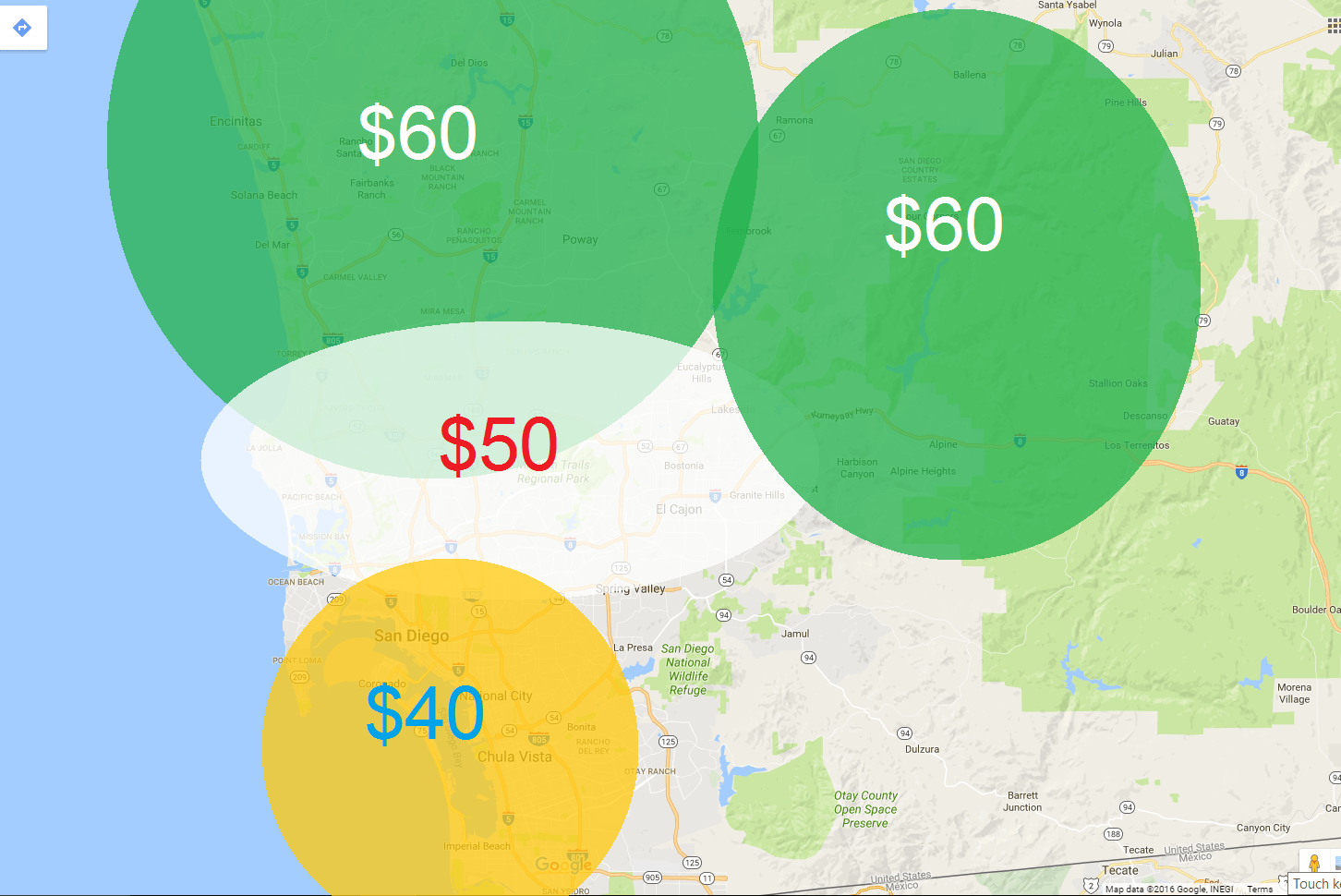 mobile service fees by area - Mobile Services